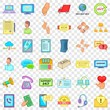 Free support icons set. Cartoon style of 36 free support vector icons for web for any design