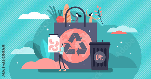 Zero waste vector illustration Wallpaper Mural