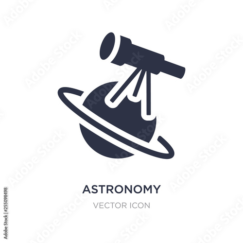astronomy icon on white background. Simple element illustration from Astronomy concept. Wall mural