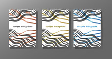 Abstract Backgrounds With Hand-drawn Stripes . Three Color Options.