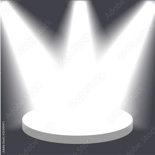 Fototapeta Vector spotlight. Light effect obraz na płótnie