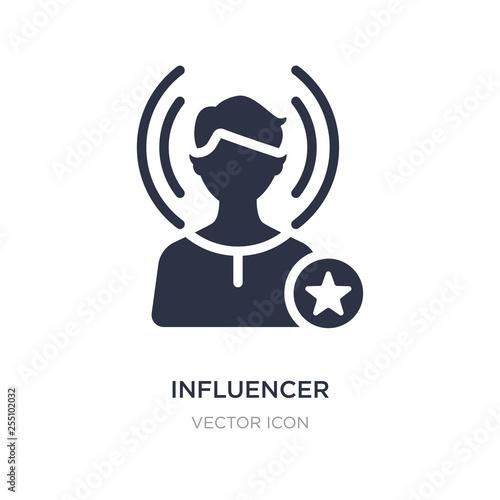 influencer icon on white background Canvas Print