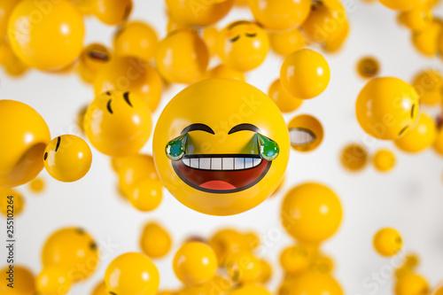 Large laughing emoji face w...