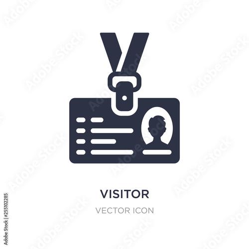 visitor icon on white background Fototapeta