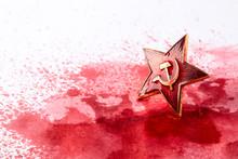 Soviet Red Star Badge In Blood