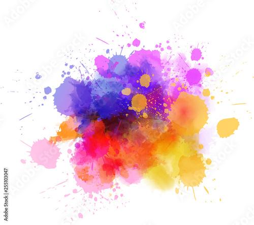 Wall Murals Form Multicolored splash watercolor blot