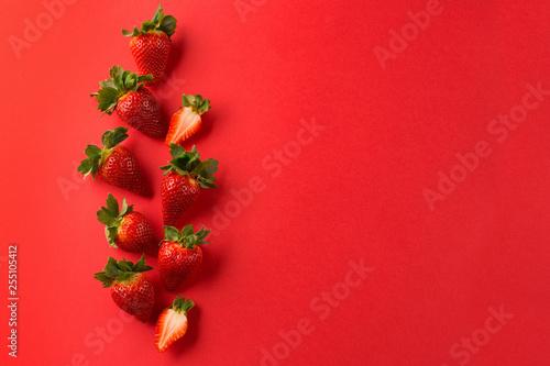 Fotografie, Obraz  Red fresh strawberries