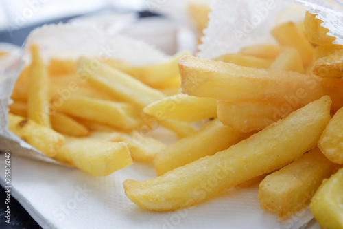 Fotografiet  French fries in a fast food restaurant