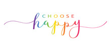 CHOOSE HAPPY Brush Calligraphy...