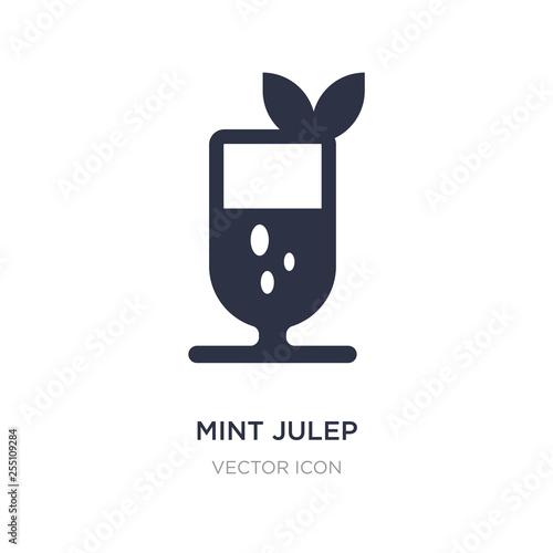 Valokuvatapetti mint julep icon on white background