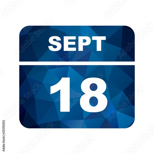 Photographie  September 18th Date on a Single Day Calendar
