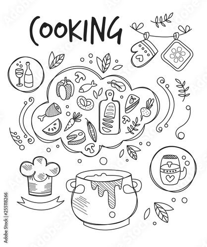 garnek-z-zupa-i-roznorodne-produkty-na-bialym-tle