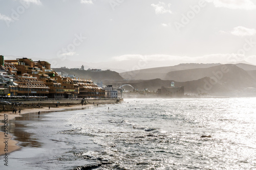 The beach of Las Palmas de Gran Canaria, Canary Islands, Spain