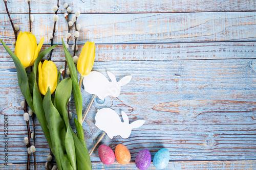 Fototapeta Wielkanocne wiosenne tło. obraz