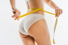 Slimming Woman In Panties With...