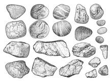 Rock, Pebble Illustration, Dra...