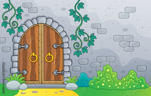 Canvas Prints For Kids Old door theme image 2