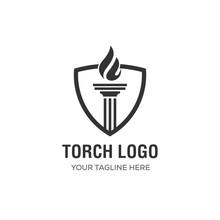 Elegant Luxury Torch Flame Logo Design Inspiration -