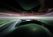 Surreal alien landscape, abstract 3d illustration.