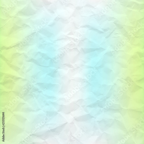 Fotografia, Obraz  Crumpled paper with colorful background