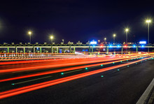 Soft Image Of Pay For Using Highway Motorway, Abstract Bokeh Of Light