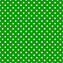 Smaller White Polka Dots On Gr...