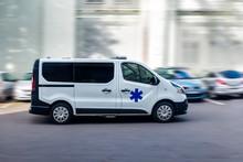 Ambulance En Route Vers L'hôpital .