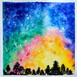 watercolor background space