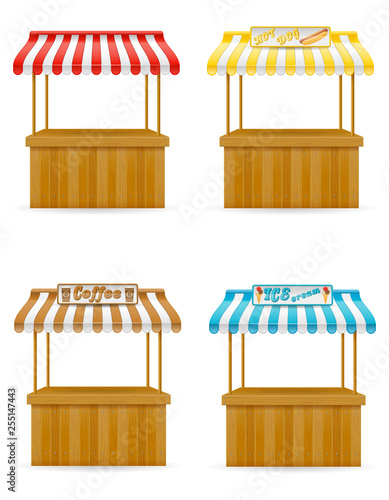 Stampa su Tela street food stall vector illustration