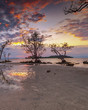 Panorama sunset of wonderful batam bintan Indonesia