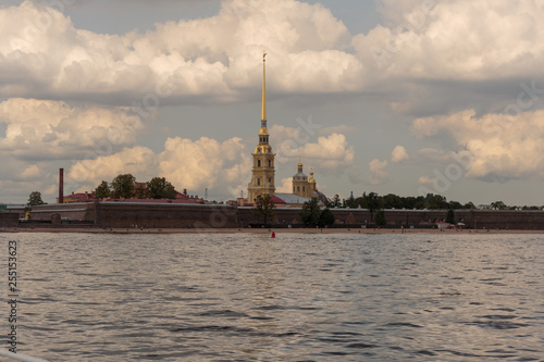 Foto  View of the Peter and Paul fortress and the Cathedral of St