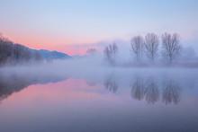 Foggy Sunrise On Adda River, A...