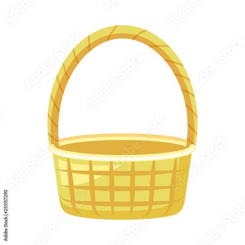 Fotografía  wicker basket isolated icon