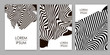 Black lines. Zebra backgrounds set. Templates for cover, card, banner, poster.