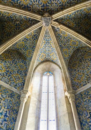 Foto  Portuguese azulejos Faro Portugal main cathedral Igreja de Santa Maria