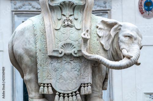 Foto  Elephant and Obelisk by Bernini in Piazza della Minerva, Rome, Italy