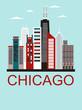 Chicago city travel background
