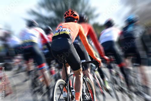Photo  course cycliste