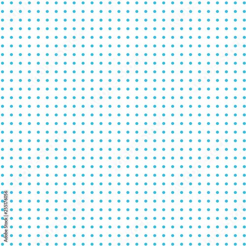 Fototapeta Turquoise dots  on white background    obraz na płótnie