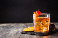 Old Fashioned Cocktail With Or...