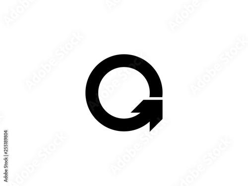 Round arrow vector symbol Canvas Print