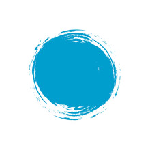 Oval Blue Paint Stain Vector I...