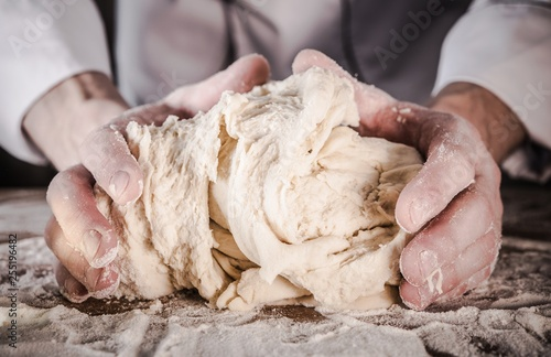 Fotografie, Obraz  Preparing Bread Dough