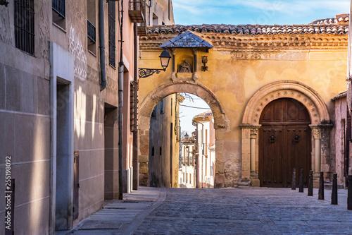 Fotografie, Obraz  Streets of the historic center of Segovia in Spain