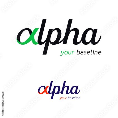 Alpha - Logotype pour entreprise Canvas Print