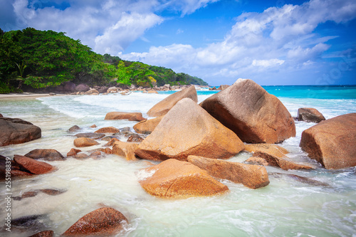 Vacation summer holidays background wallpaper - sunny tropical Caribbean paradis Canvas Print