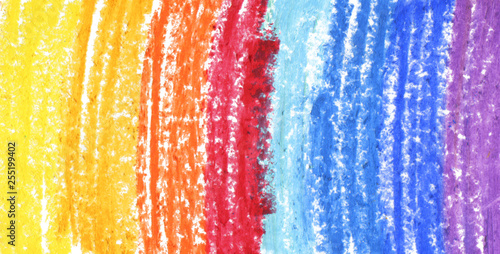 Oil pastel gradient stroke texture on white background. Isolated.