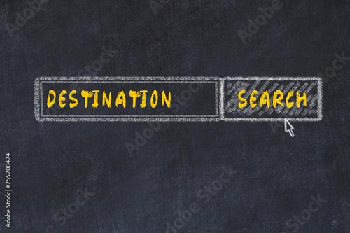 Foto  Chalk board sketch of search engine