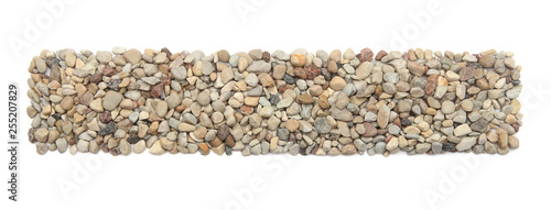 Cuadros en Lienzo Ground stones frame isolated on white background