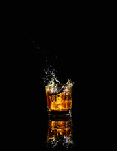 Isolated Shot Of Whiskey With ...